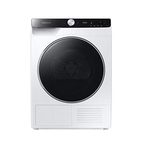 Samsung Asciugatrice DV90T8240SE/S3 con AI Control, Asciugatura Ultra Rapida in 81 Minuti, Programma Igienizzante, Air Wash, Prevenzione Pieghe, tecnologia Optimal Dry, Filtro 2 in 1, Colore Bianco