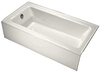 KOHLER K-876-0 Bellwether Bath with Integral Apron and Right-hand Drain, White