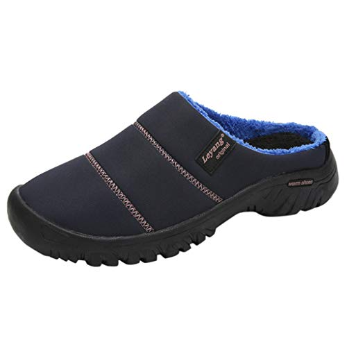HDUFGJ Herren Damen Hausschuhe Winter Plus Samt Pantoffeln Bequem Wärme Halten House Schuhe