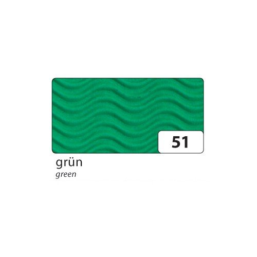 Preisvergleich Produktbild Bastelwellpappe - 50 x 70 cm,  grün,  3D-Wellenform