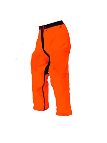Forester Chainsaw Safety Chaps - Full Wrap Zipper - Orange, No Color, Size 5.0