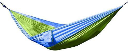 YSCYLY Hamaca Colgante Nylon,Equipo de Campamento de Ocio Doble Individual, ExcursióN, Acampar, Escalar Una MontañA, Etc.