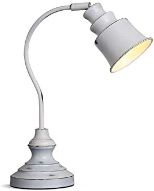 Chandeliervintage Wei Schreibtischlampe Metall Leselampe Einstellbare Schreibtischlampe E14 Retro Tischlampe Schlafzimmer Nachttischlampe
