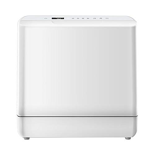 RHSMW Lavavajillas de Encimera, hogar automático Mini Lavavajillas, Cinco Programas de Lavado 6, Servicios de Mesa, 72 ° C Lavado de Alta Temperatura (Blanco)