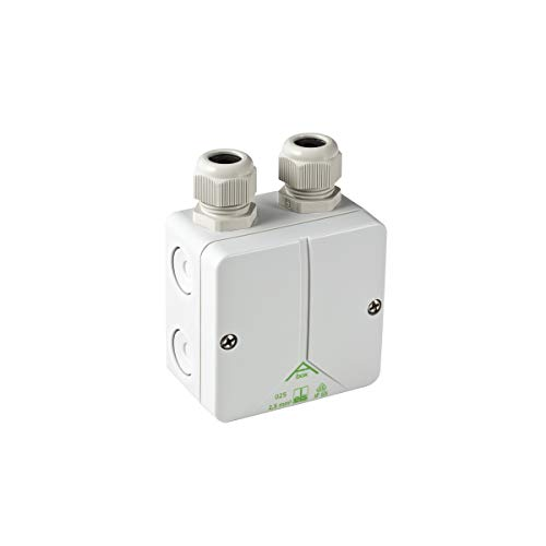 Geberit 244120001 Combination Connection Box (for Concealed Connection of Odour Extraction in Toilet Ceramic) White