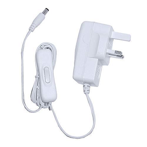 Torsino - Fuente de alimentación LED (8,4 W, 12 V, para tiras LED y luces con interruptor), color blanco