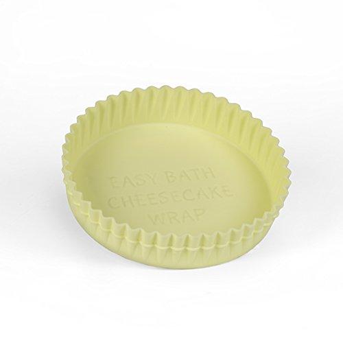 """Easy Bath Cheesecake Wrap - Springform Pan Protector (9"""" yellow)"""