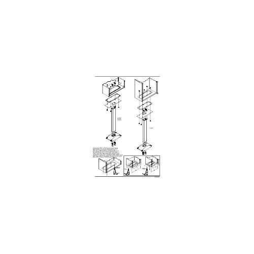 Schneider Electric NSYCHCOC Placa Adaptadora, Ral7035 Para Armarios Spacial Crn Tipo C.