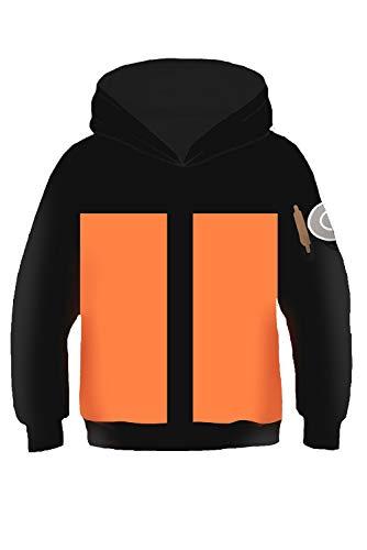 RedJade Kinder Jungen Mädchen Kapuzenpullover Sweatshirt Hoodie Print Pulli Tops Jacke Pullovershirt Sweatjacke Outwear Oberteile Naruto Uzumaki