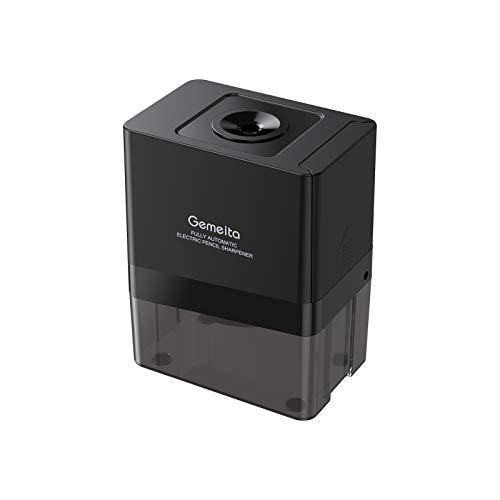 Gemeita Sacapuntas Eléctrico, Sacapuntas Completamente Automático Con Fuerte Hoja Helicoidal de Acero para Lápices No.2 y de Colores (6-8mm), Admite con Baterías o Adaptador de CA