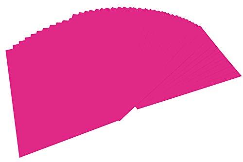 folia 6423 - Tonpapier pink, DIN A4, 130 g/qm, 100 Blatt - zum Basteln und kreativen Gestalten von Karten, Fensterbildern und für Scrapbooking