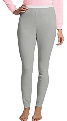 Hanes Women's X-Temp Thermal Pant_Grey Heather_Large from