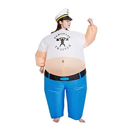 OHC Vigorosamente Disfraces Disfraces Walking Marinero Inflable Traje del Partido Broma de Halloween del Partido del Traje/Inflable Circo Rendimiento (Size : Adult Size (160-190CM))