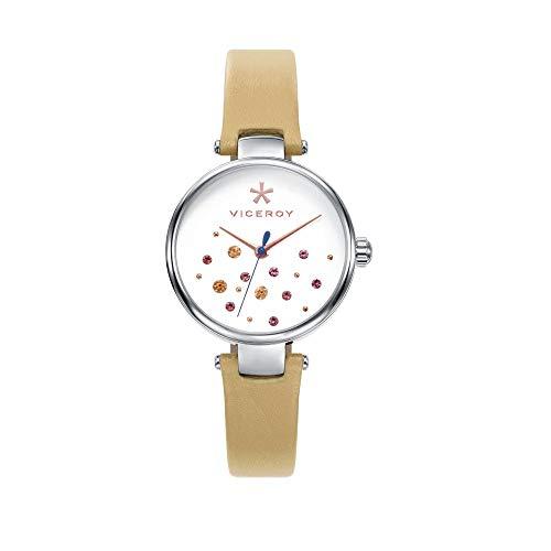 Viceroy Reloj Analogico para Mujer de Cuarzo con Correa en Cuero 471114-09