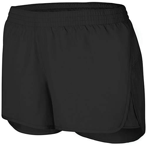 Augusta Sportswear Girls Wayfarer Shorts, Black, L