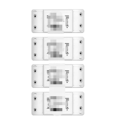 CML DIY WiFi Smart Light Switch Temporizador Temporizador Wireless Remote Control Works con Alexa Google Home Smart Home 4 Piezas (Color : 1 PCs)