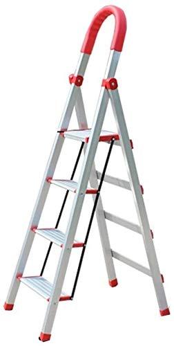 Multifunctionele ladder Rust-proof Ladders, Indoor Climbing Ladder Outdoor Construction Site engineering Ladder Frivole Ladder/Comfortabele Sponge Armsteun Huishoudelijke ladder Ladder huis vouwen
