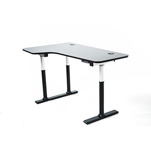 ApexDesk Vortex Series 6-button Electric Height Adjustable Sit to Stand 3-Leg Corner Desk, Espresso