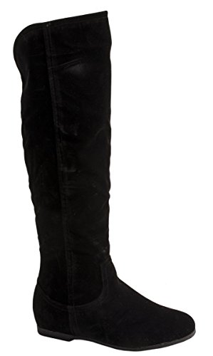 Elara Damen Stiefel Reiter-Boots Chunkyrayan BL195 Black-40