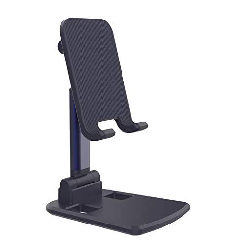 ZHJDX Titular de teléfono Móvil Smartphone Soporte de Escritorio Tablet Soporte para Escritorio Titular de teléfono Celular Soporte portátil Titular móvil (Color : Black Charm Blue)