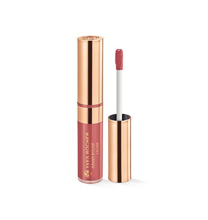 Yves Rocher COULEURS NATURE GRAND ROUGE Elixir 101 Rose Nude, matte & langanhaltende Lippenpflege in...