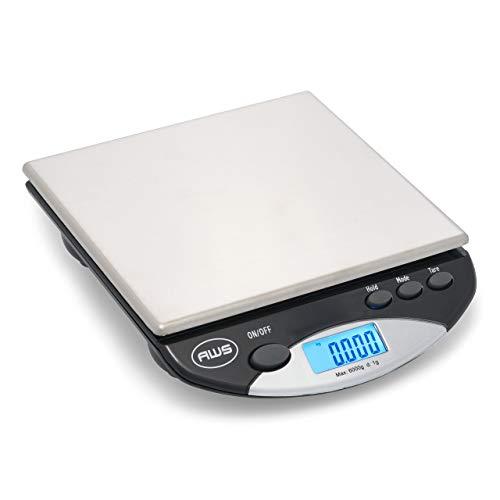 American Weigh Scales AMW13-BK AMW-13 Digital PostalKitchen Scale 13 lb6 kg Black