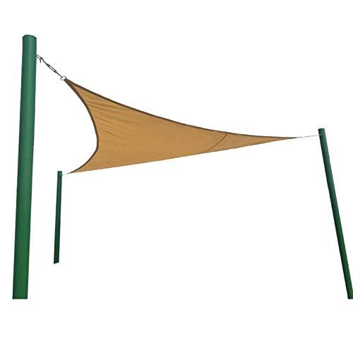 XISENOCI Tenda da Sole ombreggiante a Vela, tettoia da giardino Tenda da Sole a Vela con blocco UV 98% con Corda Gratuita Anelli a D durevoli in Acciaio inossidabile per Patio giardino sul Retro (Col