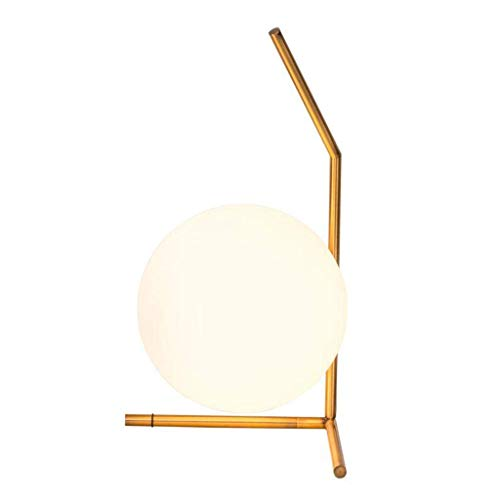 GUOCAO Luz Iluminación decorativa, Reading lámpara- de noche y lámparas de mesa Lámpara bola redonda Oro Hierro forjado lámpara de mesa Habitación Sala Estudio lámpara de mesa moderna simple de la lám