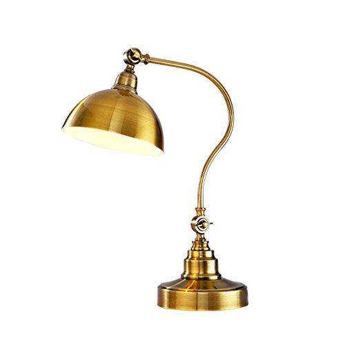 HLQW Lámpara de Cobre Lámpara de Estilo Europeo Simple Lámpara de país Americano Retro Lámpara de Sala de Estar cálida Lámpara Lámpara de cabecera Lámpara de Dormitorio