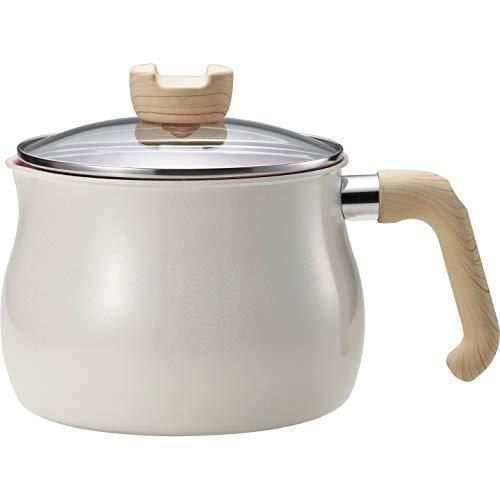 和平フレイズ マルチポット Lサイズ 14cm 3L (3~4人用) ホワイト 7つの使い方 煮る 茹でる 沸かす 炊く 炒める 揚げる 和える IH対応 ふっ素樹脂加工 トゥーメイ チャーム To May charm MB-1614