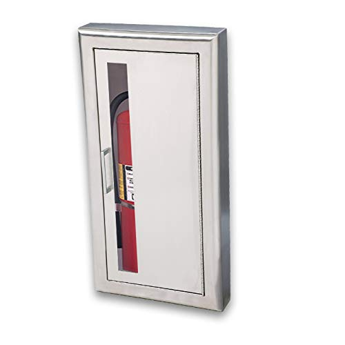 JL Industries 1037V10 Cosmopolitan Series Rolled Edge Fire Extinguisher Stainless Steel Cabinet