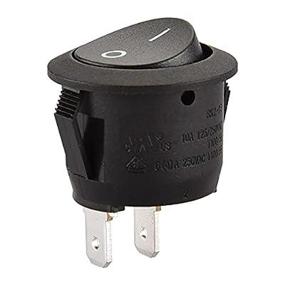 Diámetro del orificio de montaje: 21,3 mm Tamaño del terminal: 4,8 x 0,8 x 187 mm Clasificación del interruptor: 6 A, 250 V CA Contenido del paquete: 5 unidades Listado UL, VDE, TüV, ENEC, CQC