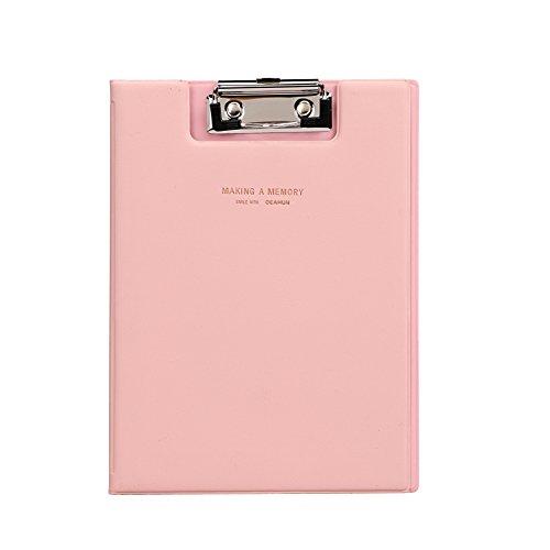 クリップボード a5 二つ折り バインダー クリップファイル フォルダー a5ファイル 書類入れ 手形 領収書ホルダー 資料 紙はさみ レシピボード メモ 下敷きボード 事務用品 オフィス 大人気 文房具 高品質 プレゼント ピンク