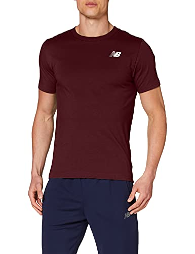 New Balance Camiseta clásica de arco para hombre, Hombre, Camiseta, MT11985, granate, L