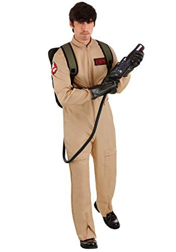 Deluxe Adult Ghostbusters Costume Small Brown