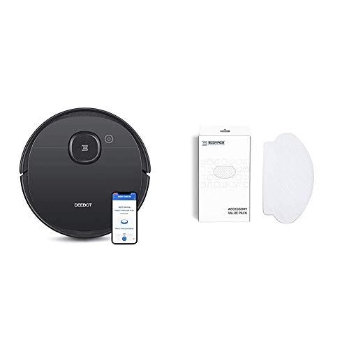 ECOVACS DEEBOT OZMO 950 - Care - Saug- & Wischroboter – 2-in-1 Staubsauger-Roboter mit Wischfunktion & intelligenter Navigation – Google Home, Alexa- & App-Steuerung + Reinigungstücher