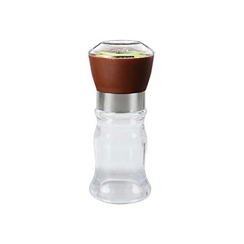 tianxiangjjeu zwarte pepermolen, creatieve keukenbenodigdheden handmatige slijper vocht-proof kruiden fles Brown