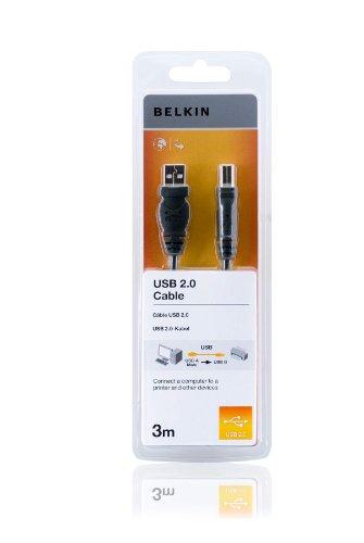 Belkin F3U154cp3M Cavo USB per stampante, connettori USB A maschio - USB B maschio, lunghezza 3 metri - nero