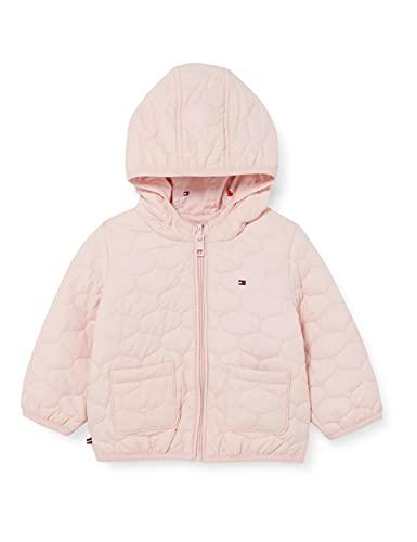 Tommy Hilfiger Baby Reversible Jacket Chaqueta, Rosa Delicado, 92 cm Unisex bebé