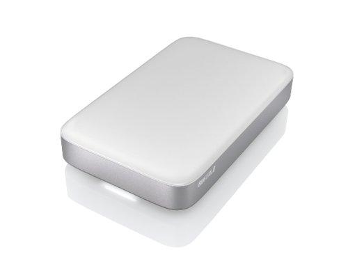 Buffalo MiniStation Thunderbolt HD-PA128TU3S-EU Externe SSD-Festplatte 128GB (6,4 cm (2,5 Zoll), MLC, SATA III, USB 3.0) Silber