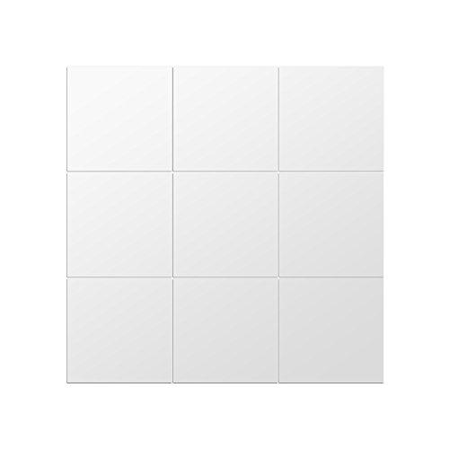 Tnfeeon 9 STÜCKE DIY Quadratischen Spiegel Wandaufkleber 5,9x5,9 Zoll Selbstklebende Fliesen 3D Acryl Wandspiegel Decor für Schlafzimmer Bad Decor