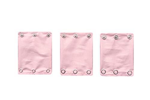 Baby Bodyverlängerung für Babybodys 3er-Set'Babyrosa' mit 3 Knopfgrößen! aus 100% Bio-Baumwolle