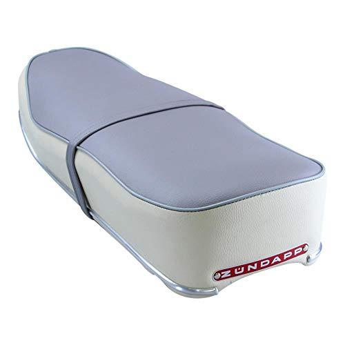 Zündapp Sitzbank beige grau mit rotem Emblem für Super Sport Combinette Typ 433 510 515 Doppelsitzbank