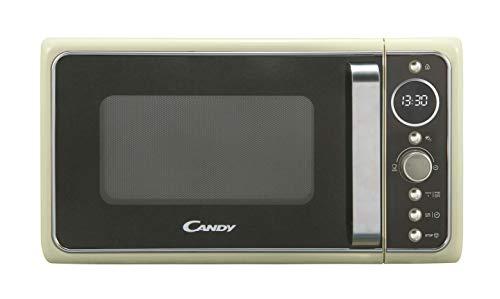 Candy DIVO G25CC Forno a Microonde con funzione Grill, 900W, 25 litri, Piatto rotante in vetro, Ø 27 cm, Colore Avena