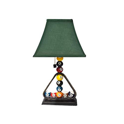 ZLMAY Lámpara de Mesa de Billar, Dormitorio de Noche luz de la Noche, Arte Sala Decoración Regulable