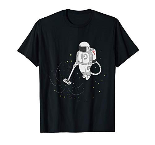 Astronaut T-Shirt I Geschenk Hausmeister Staubsauger Sterne T-Shirt