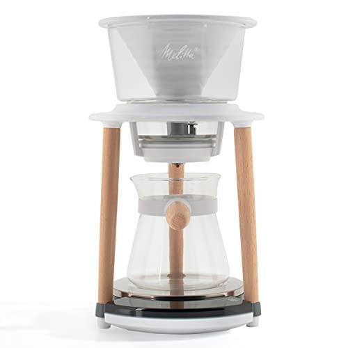 Melitta SENZ V Pour-Over Coffee System   Pour Over Coffee Dripper   Pour Over Coffee Brewer   Pour Over Coffee Maker   Manual Coffee Maker   12oz (300ML) Capacity   Cordless
