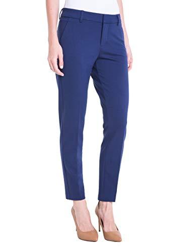 Liverpool Damen Petite Kelsey Straight Trouser In Super Stretch Ponte Hose, Business/Leger, Mittelalterblau, 40 Zierlich