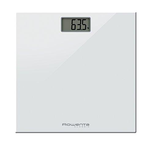 Rowenta Classic Electronic personal scale Rectángulo Color blanco - Báscula de baño (LCD, 30 x 70 mm, Color blanco, 300 mm, 300 mm, 22 mm)