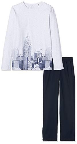 Schiesser Jungen Anzug Lang Zweiteiliger Schlafanzug, Grau (grau-Mel. 202), (Herstellergröße:152)
